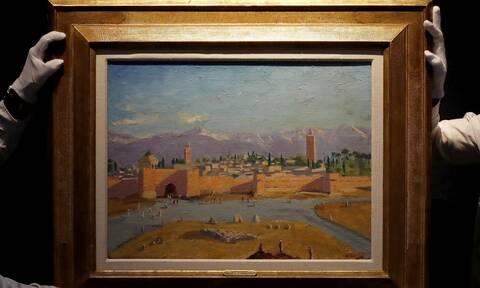 Τιμή Ρεκόρ για σπάνιο πίνακα του Τσόρτσιλ εξασφάλισε σε δημοπρασία η Αντζελίνα Τζολί