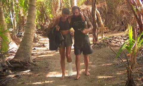Survivor: Τραυματισμός – σοκ για τη Σοφία – Έσπασε το δάχτυλο του ποδιού της (video)