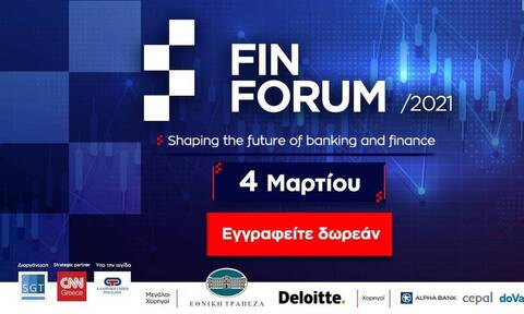 Fin Forum 2021: Παρακολουθήστε live το πρώτο online συνέδριο για οικονομία και τράπεζες