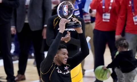 MVP ο Γιάννης Αντετοκούνμπο στο All Star Game του NBA