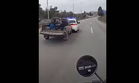 Θεσσαλονίκη: Βίντεο – ντοκουμέντο από επεισοδιακή καταδίωξη ληστών στην περιφερειακή οδό