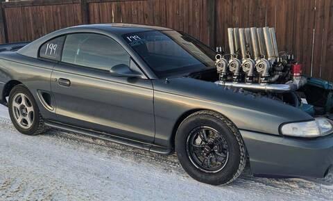 Δείτε μία Mustang του 1995 με… 8 turbo!