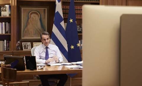 Μητσοτάκης: Τηλεδιάσκεψη με Μέρκελ, Μακρόν, Ντράγκι και Σάντσεθ για Τουρκία και Ανατολική Μεσόγειο