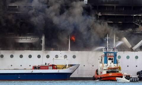 Κέρκυρα: Υπό έλεγχο η φωτιά σε κρουαζιερόπλοιο εντός λιμανιού - Η ανακοίνωση της Πυροσβεστικής