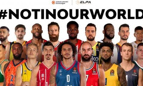 Euroleague: Το μήνυμα κατά του ρατσισμού - «Μαζί, πολεμάμε την ανισότητα» (video)