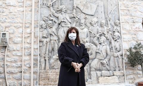 Κατερίνα Σακελλαροπούλου: «Ήρθα να τιμήσω το πνεύμα της αδούλωτης Μάνης»