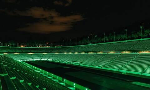 Το Παναθηναϊκό Στάδιο έγινε πράσινο για την Ημέρα του Αγίου Πατρικίου