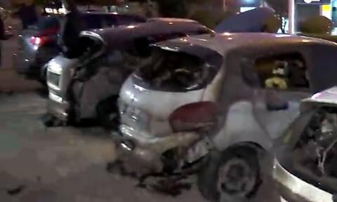 Καισαριανή: Έκαψαν οχτώ αυτοκίνητα σε αντιπροσωπεία αυτοκινήτων