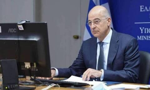 FM Dendias speaks on the phone with NATO sec gen Stoltenberg