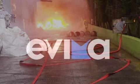 Φωτιά Σχηματάρι: Τρεις τραυματίες από τη φωτιά στο εργοστάσιο ανακύκλωσης (pics+vids)