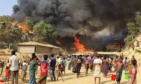 Μπαγκλαντές: Πυρκαγιά σε προσφυγικό καταυλισμό των Ροχίνγκια – Φόβοι για πολλούς νεκρούς