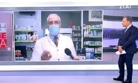Χαμός on air στον ΣΚΑΪ: Ο Λουράντος έδιωξε το συνεργείο από το φαρμακείο του