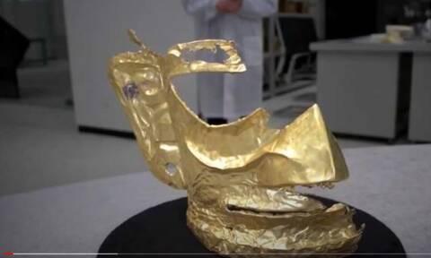 Κίνα : Αρχαιολόγοι ανακάλυψαν χρυσή μάσκα 3.000 ετών - To «εύρημα» έριξε το διαδίκτυο