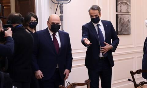 25 Μαρτίου - Μητσοτάκης προς Μισούστιν: Δεν ξεχνάμε την προσήλωση της Ρωσίας στο Δίκαιο της Θάλασσας