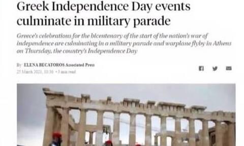 25η Μαρτίου: Έντονο ενδιαφέρον στα ξένα Μέσα για τους εορτασμούς των 200 χρόνων από την Επανάσταση