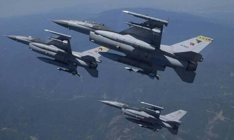 Προκλητικές παραβιάσεις τουρκικών F-16 στο Αιγαίο ανήμερα της 25ης Μαρτίου