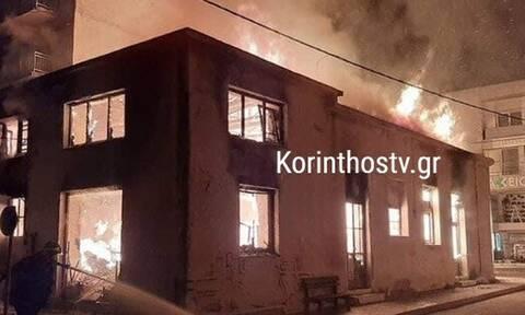 Παρανάλωμα του πυρός διώροφο κτήριο στο κέντρο του Ξυλοκάστρου