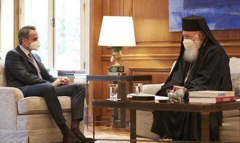 Συνάντηση Κυριάκου Μητσοτάκη – Αρχιεπισκόπου Ιερώνυμου: Τι συζήτησαν