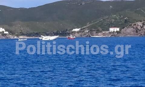 Τουρκική θαλαμηγός προσάραξε στα «Πρασονήσια» των Οινουσσών - Έσπευσε το Λιμενικό