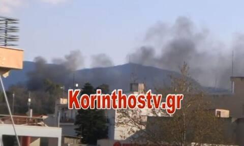Κόρινθος: Πεδίο μάχης το κέντρο μεταναστών – Φωτιές και πετροπόλεμος