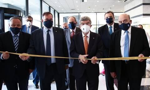 O Πρόεδρος της ΔΟΕ Τόμας Μπαχ εγκαινίασε την Ψηφιακή Εκθεση στην ΕΟΕ (video+photos)