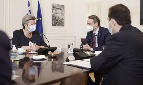 Μητσοτάκης: Θέλουμε δίκαιη κατανομή των βαρών στην ΕΕ για το μεταναστευτικό