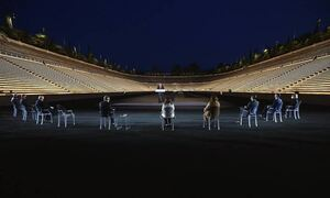 Томас Бах открыл новое освещение на стадионе проведения первой современной Олимпиады
