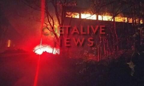 Κρήτη: Ανήλικοι πίσω από τη φωτιά στις αποθήκες του συνεταιρισμού Αρχανών