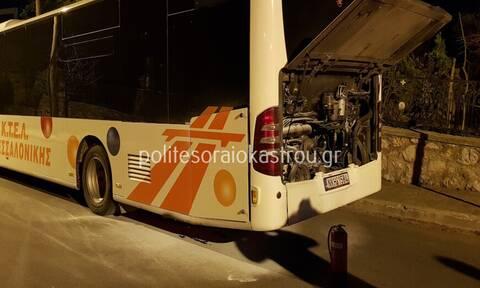 Θεσσαλονίκη: Φωτιά εν κινήσει σε λεωφορείο του ΚΤΕΛ στο Ωραιόκαστρο