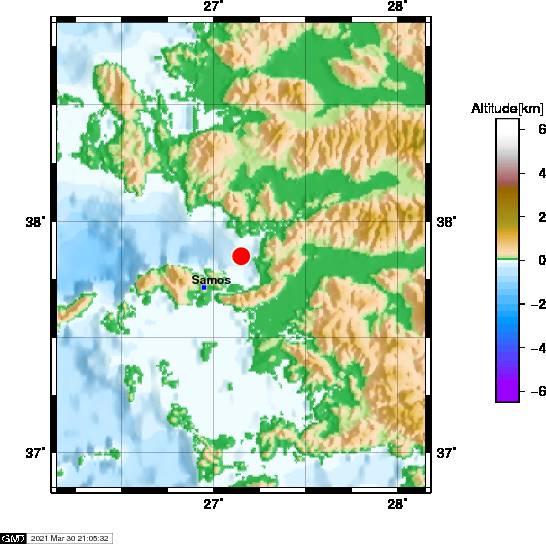 Σεισμός κοντά στη Σάμο - Αισθητός στο νησί (pics) - Newsbomb - Ειδησεις