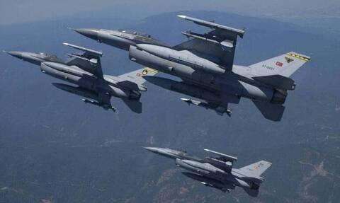 Ο Ερντογάν συνεχίζει τις προκλήσεις - Υπερπτήσεις τουρκικών μαχητικών στο Αιγαίο