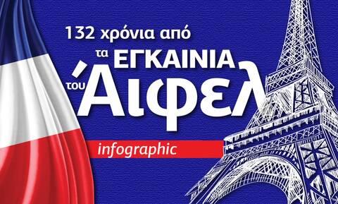 Πύργος του Άιφελ: 10+1 πράγματα που δεν ξέρατε για το μνημείο - Δείτε το Infographic του Newsbomb.gr
