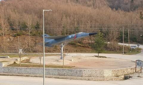 Πολεμική Αεροπορία: Ένα μαχητικό Mirage F1 στο χωριό του ήρωα Σμηναγού Γιώργου Μπαλταδώρου