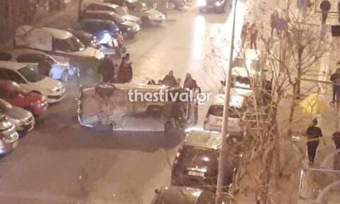 Θεσσαλονίκη: Ανατροπή οχήματος στην Άνω Πόλη – «Εξαφανίστηκε» η οδηγός