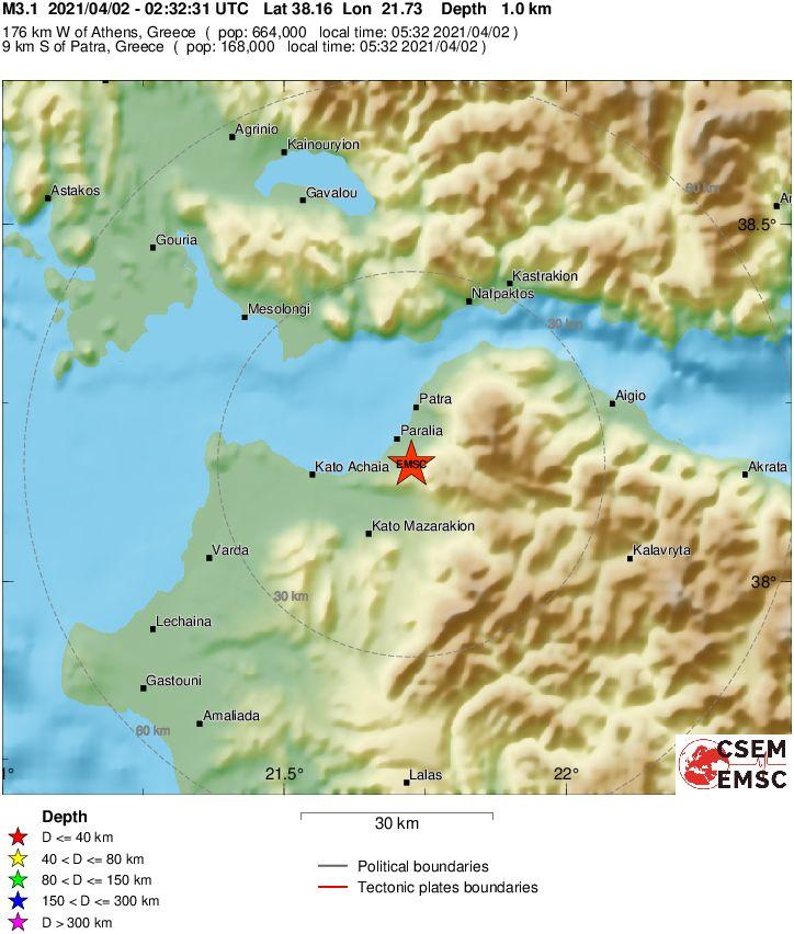 Στο «ρυθμό» των ρίχτερ η Πάτρα - Συνεχείς σεισμικές δονήσεις