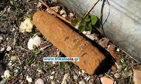 Συναγερμός στα Τρίκαλα: Βρέθηκε βλήμα του Β' Παγκοσμίου Πολέμου -  Ελεγχόμενη έκρηξη (vid)