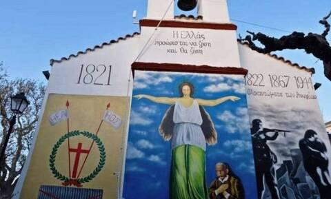 Δέος προκαλεί τοιχογραφία σε εκκλησία της Κρήτης (pics)