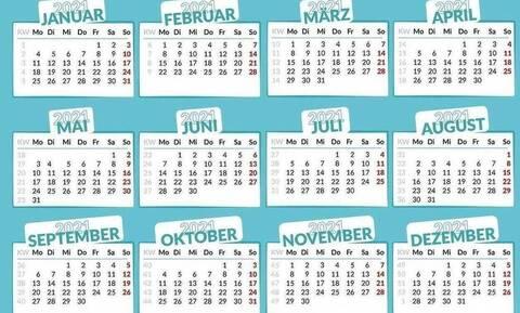 Αργίες για 2021: Πότε πέφτει το Πάσχα - Αναλυτικά όλα τα τριήμερα της χρονιάς