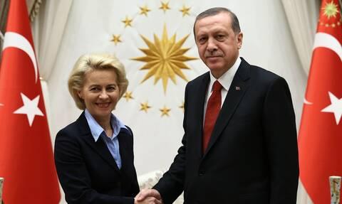 ΕΕ καλεί Τουρκία: Tι συζητούν Ερντογάν, Σαρλ Μισέλ και Ούρσουλα φον ντερ Λάιεν στην Άγκυρα