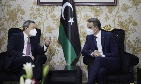 Συνάντηση Μητσοτάκη - Ντράγκι επί λιβυκού εδάφους - Τι συζήτησαν