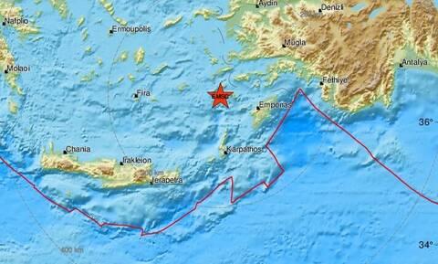 Σεισμός κοντά σε Νίσυρο και Τήλο