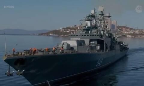 Για πρώτη φορά ρωσική φρεγάτα εκτόξευσε τον πανίσχυρο πύραυλο «Καλίμπρ»