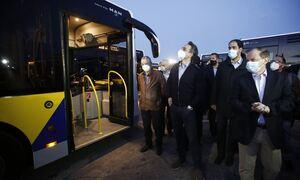 Στο αμαξοστάσιο του ΟΣΥ ο Κυριάκος Μητσοτάκης - Στους δρόμους 40 νέα λεωφορεία