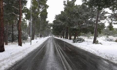 Καιρός ΤΩΡΑ: Χιονίζει στην Πάρνηθα – Δείτε εικόνα