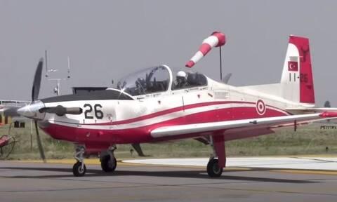 Νέα συντριβή τουρκικού στρατιωτικού αεροσκάφους: Έπεσε στο Αιγαίο, στα ανοιχτά της Σμύρνης