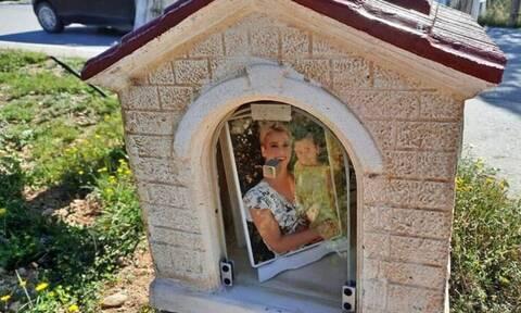Έστησαν εικονοστάσι για την Όλγα και το τρίχρονο αγγελούδι της (pics)