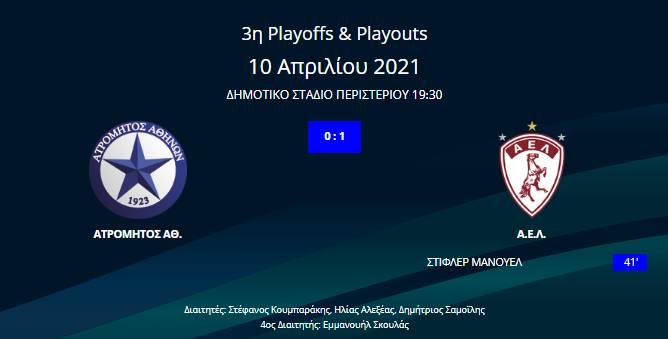 Ατρόμητος - ΑΕΛ 0-1