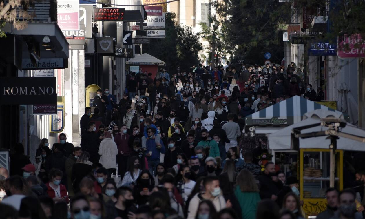 Lockdown: Ξεχύθηκαν στην Ερμού οι Αθηναίοι - «Πλημμύρισε» το κέντρο της Αθήνας