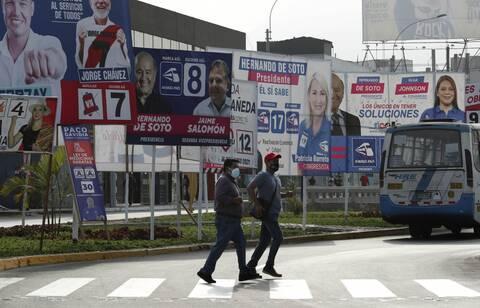 Περού: Προεδρικές εκλογές με 18 υποψηφίους και κανένα φαβορί εν μέσω πανδημίας