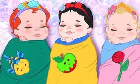 Οι νεογέννητες πριγκίπισσες της Disney (pics)